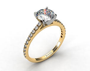 18k Yellow Gold 0.54ct Common Prong Round Shaped Diamond Engagement Ring