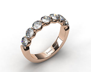 18k Rose Gold 1.50ctw Share Prong Diamond Anniversary Ring