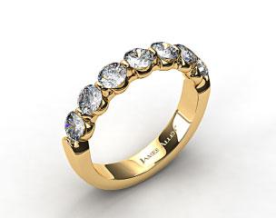 18k Yellow Gold 1.00ctw Share Prong Diamond Anniversary Ring