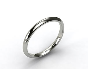 14k White Gold 2mm Knife Edge Women's Wedding Ring