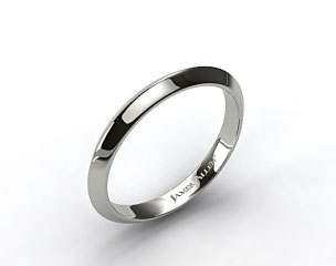 18k White Gold 2.5mm Knife Edge Women's Wedding Ring