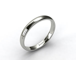 18k White Gold 2.5mm Comfort Fit Wedding Ring