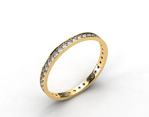14K Yellow Gold .26ct Pave Diamond Eternity Band