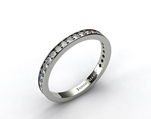 18k White Gold 0.17ct Pave Diamond Wedding Ring
