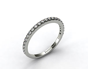 14K White Gold 0.44ct Common Prong Diamond Wedding Ring
