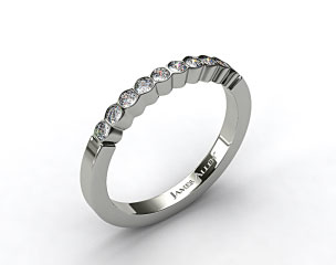 18k White Gold Bezel Set Diamond Wedding Ring