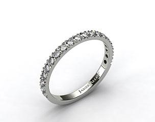 18K White Gold 0.29ct Art-Nouveau Pave Set Diamond Wedding Ring