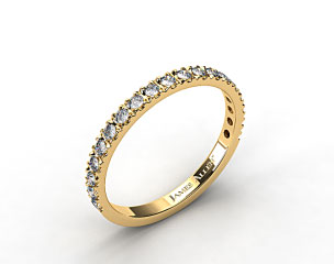 18K Yellow Gold 0.29ct Art-Nouveau Pave Set Diamond Wedding Ring