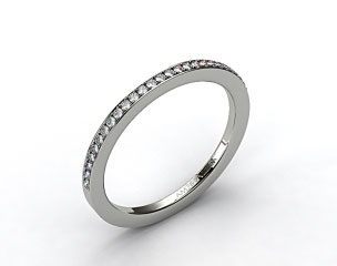 18K White Gold 1.5mm, 24 stone, 0.19ctw Matching Pave Wedding Band