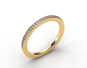 14K Yellow Gold 2mm, 24 stone, 0.19ctw Matching Pave Wedding Band