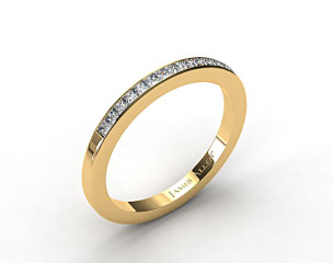 14K Yellow Gold 1.9mm, 15 Stone, 0.24ctw Matching Channel Set Wedding Band