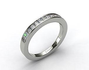 Platinum 0.52ct Channel Set Princess Diamond Wedding Ring