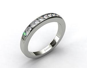 14K White Gold 0.35ct Channel Set Round Diamond Wedding Ring