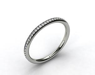18K White Gold 2mm, 48 Stone, 0.27ctw Matching Pave Wedding Band