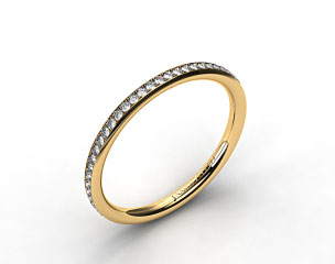 18k Yellow Gold 2mm, 48 Stone, 0.27ctw Matching Pave Wedding Band