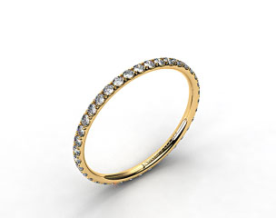 18k Yellow Gold 1.5mm, 46 stone, 0.32ctw Matching Pave Eternity Band
