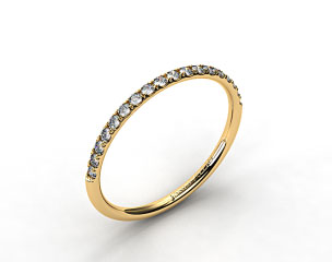 18k Yellow Gold 1.5mm, 23 Stone, 0.16ctw Matching Pave Wedding Band