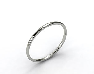14K White Gold 2mm Comfort Fit Wedding Ring