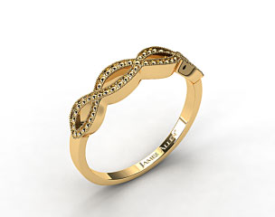 18K Yellow Gold Vintage Infinity Wedding Band
