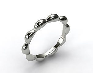 14K White Gold Seeds of Nature Wedding Ring