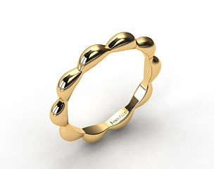 14K Yellow Gold Seeds of Nature Wedding Ring