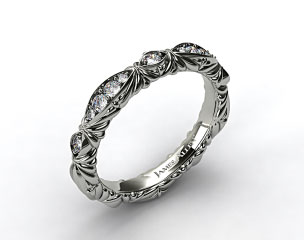 Platinum Pave Cascading Wedding Band