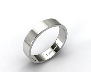 Palladium 6mm Flat Satin Finish Comfort Fit Wedding Band