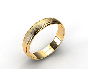18k Yellow Gold 6mm Hammered Comfort Fit Wedding Band