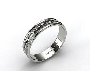 Palladium 6mm Arrow Design Comfort Fit Wedding Band