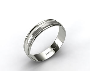 14k White Gold 6mm Milgrain with Double Edge Comfort Fit Wedding Band