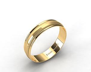 14k Yellow Gold 6mm Milgrain with Double Edge Comfort Fit Wedding Band