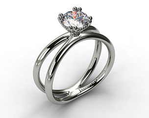 Platinum Criss Cross Diamond Solitaire