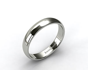Platinum 5mm Slightly Domed Comfort Fit Wedding Ring