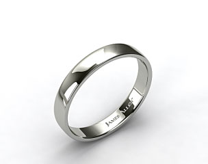 Platinum 4.5mm Slightly Flat Comfort Fit Wedding Ring