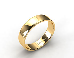 14k Yellow Gold 6.5mm Slightly Flat Comfort Fit Wedding Ring