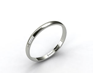 Platinum 2.5mm Traditional Slightly Curved Wedding Ring