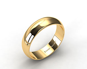 14k Yellow Gold 7.0mm Traditional Slightly Curved Wedding Ring