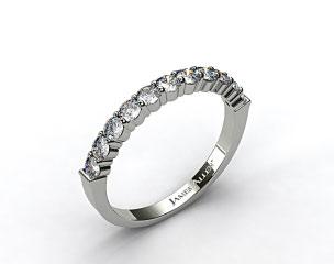 18k White Gold 0.50ct Common Prong Diamond Wedding Ring