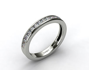18K White Gold 0.50ct Channel Set Princess Shaped Diamond Wedding Band