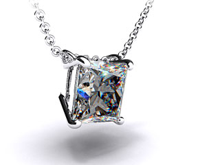 18k White Gold 0.50ct Diamond Pendant