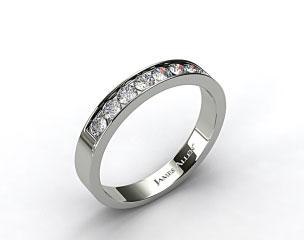 18K White Gold 0.24ct Channel Set Round Shaped Diamond Wedding Ring