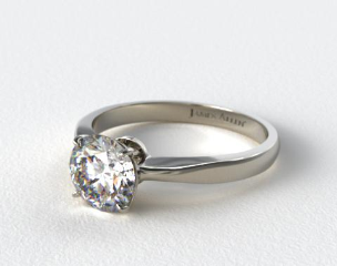 14k White Gold 2.2mm Wire Basket Solitaire Ring