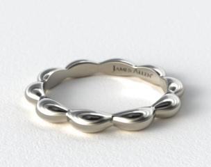 Platinum Seeds of Nature Wedding Ring