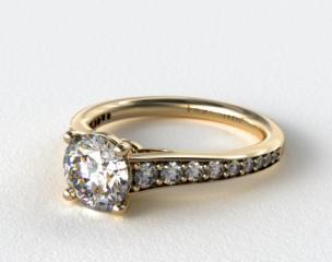 18K Yellow Gold Inispired Diamond Engagement Ring