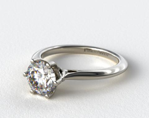 Intricate Basket Knife Edge Engagement Ring