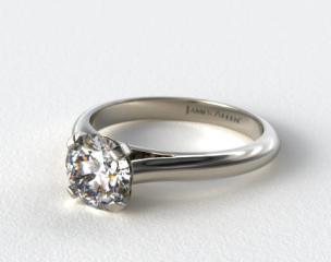 14K White Gold Sleek Diamond Engagement Ring