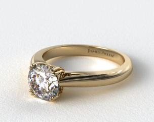 14K Yellow Gold James Allen Exclusive Engagement Ring