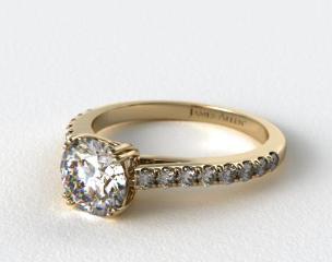 14K Yellow Gold James Allen Exclusive Engagement Ring