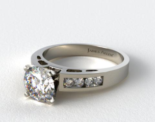 Platinum 0.34ct Channel Set Diamond Engagement Ring