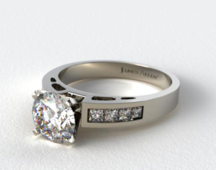 Platinum 0.42ct Channel Set Diamond Engagement Ring